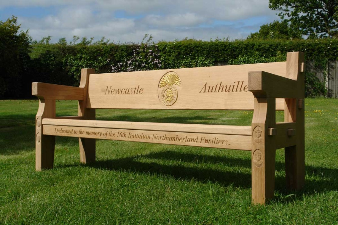Superb Oak Memorial Benches Hand Made In The United Kingdom Short Links Chair Design For Home Short Linksinfo