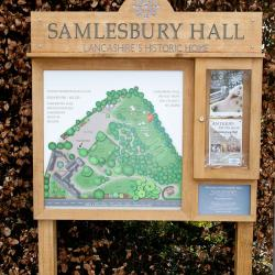 fsc oak noticeboard and sign