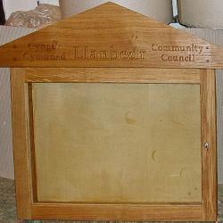 oak lockable noticeboard