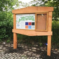 fsc douglas fir lockable noticeboard