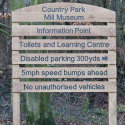country park tiered signage