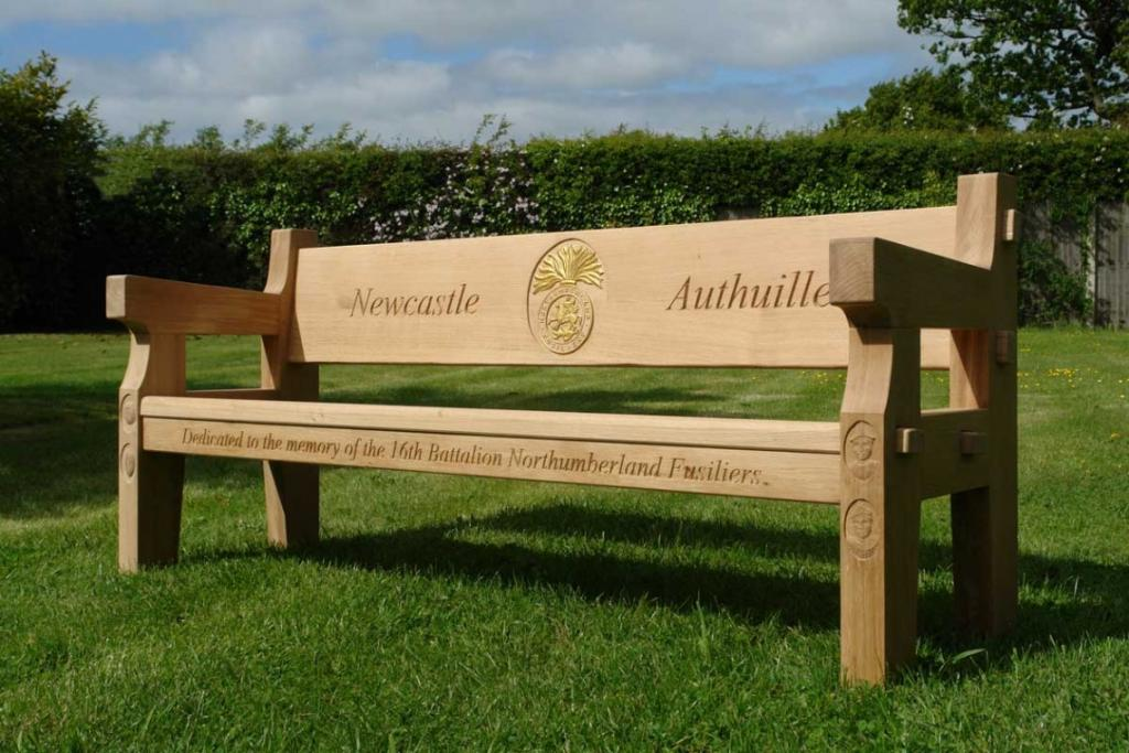 oak wooden benches