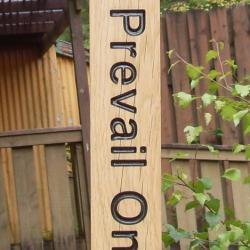 wooden peace pole