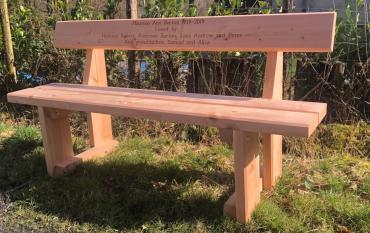 douglas fir memorial bench